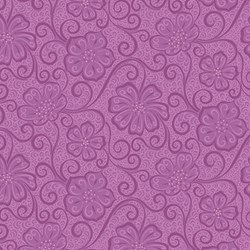 "14"" Remnant - Violet Tonal  Floral -Meadow Dance by Amanda Murphy for Benartex"